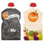 Pack de 2 gourdes Squiz réutilisables Fruits couleurs