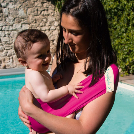 Porte-bébé tube Aquabulle Fuschia de Neobulle