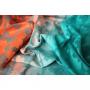 Echarpe de portage Yaro Butterflies Arctic Sunset Grad Teal Tencel