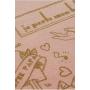 Echarpe de portage JPMBB Basic Tattoo Gold Rose Nude