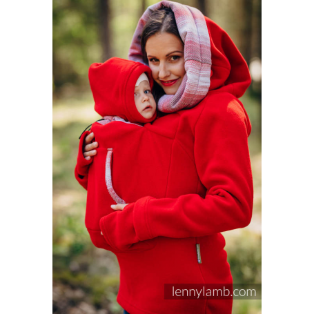Sweat de portage 2.0 Lennylamb Red with Little Herringbone Elegance