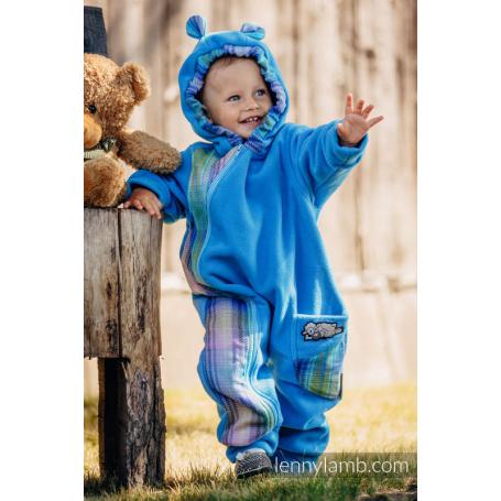 Combinaison de portage Turquoise with Little Herringbone Petrea