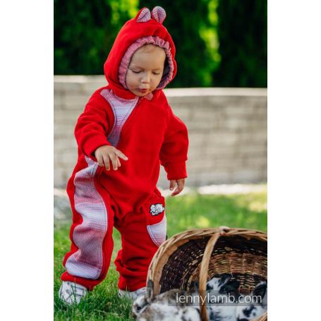 Combinaison de portage Red with Little Herringbone Elegance