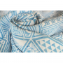 Ring Sling Yaro Geodesic Contra Blue White Wool Tussah