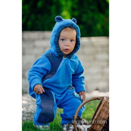 Combinaison de portage Turquoise with Little Herringbone Illusion