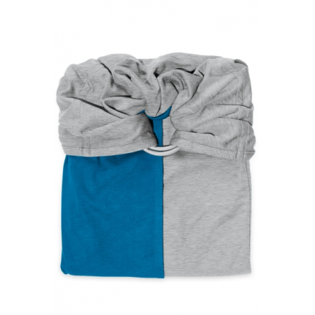 La Petite Echarpe Sans Noeud (PESN) Gris Chiné, Bleu Canard
