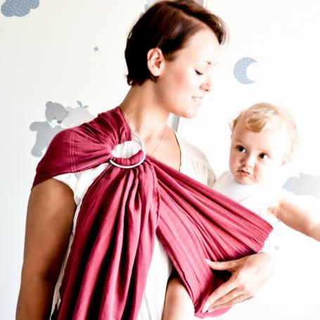 Porte-bébé sling Maru Sling Grenat de Lucky