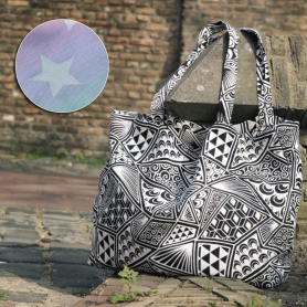 Sac Yaro Shopper Stars Space Rainbow