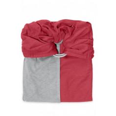La Petite Echarpe Sans Noeud (PESN) Rouge Grenat Gris Chiné