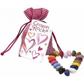 """Sachet de 20 Crayon Rocks dans son sachet de transport modèle """"Amour"""""""