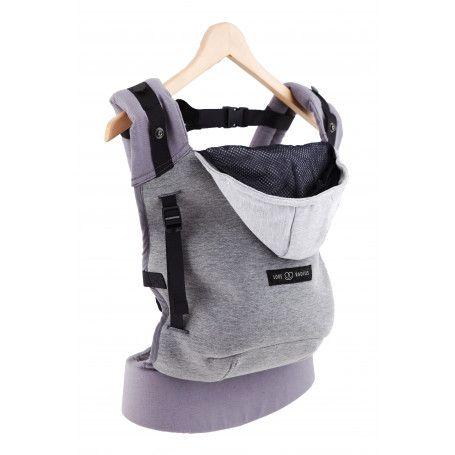 Porte-bébé physio Love Radius (JPMBB) Hoodie Carrier Gris Flanelle