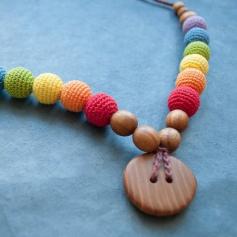 Collier de portage et d'allaitement Kangaroocare Double Rainbow