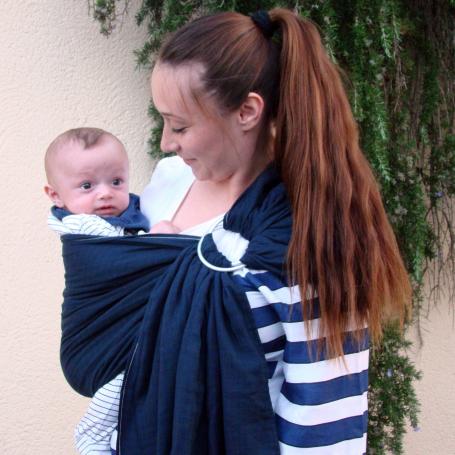 Porte-bébé sling Maru Sling Marine de Lucky