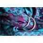 Ring Sling Yaro Petals Ultra Purple Blue Bamboo Tencel