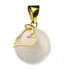 Bola de grossesse Blanc a breloque coeur VK911