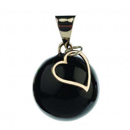 Bola de grossesse Noir a breloque coeur VK912