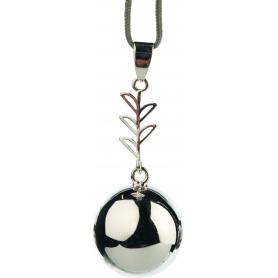 Bola de grossesse Argent brillant avec feuilles VE203