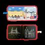 Cahier à craies Cities of Wonder Londres Jaq Jaq Bird 8 pages réutilisables