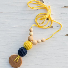 Collier de portage et d'allaitement Kangaroocare Navy and Yellow