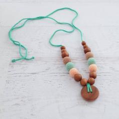 Collier de portage et d'allaitement Kangaroocare Peach Mint and Beige