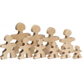 Flockmen Family - Lot de 30 personnages en bois naturel