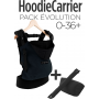 Pack Bundle HoodieCarrier Black Forest + Rehausseur Noir