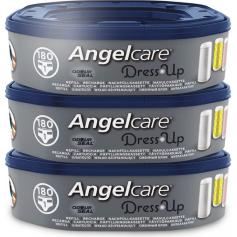 Lot de 3 recharges octogonale pour poubelle à couches Dress Up Angelcare