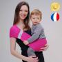 Porte-bébé d'appoint Hop'La Rose Fuschia de Neobulle