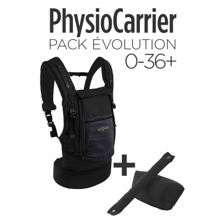 Bundle Physiocarrier Coton Noir poche Anthracite + Booster Noir de Love Radius by JPMBB