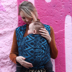 Ring Sling Yaro La Vita Blue-Black Linen