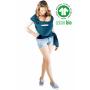 Echarpe de portage Love Radius Basic Bleu Retro en coton bio