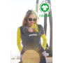 Echarpe de portage Love Radius Basic Misty Green en coton bio