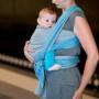 Écharpe de portage Leo Turquoise / Gris par Storchenwiege