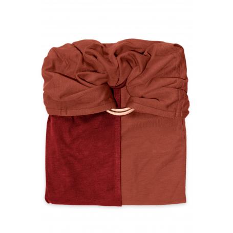 La Petite Echarpe Sans Noeud (PESN) Fauve, Rouge Bordeaux