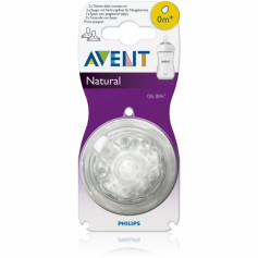 Lot de 2 tétines Natural 0 mois+ Philips AVENT