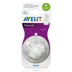 Lot de 2 tétines Natural 1 mois+ Philips AVENT