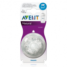Lot de 2 tétines Natural 3 mois+ Philips AVENT