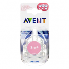 Lot de 2 tétines Classic 3 mois+ (débit variable) Philips AVENT