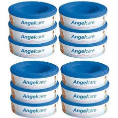 Méga Pack de 12 recharges pour poubelle à couche Angelcare
