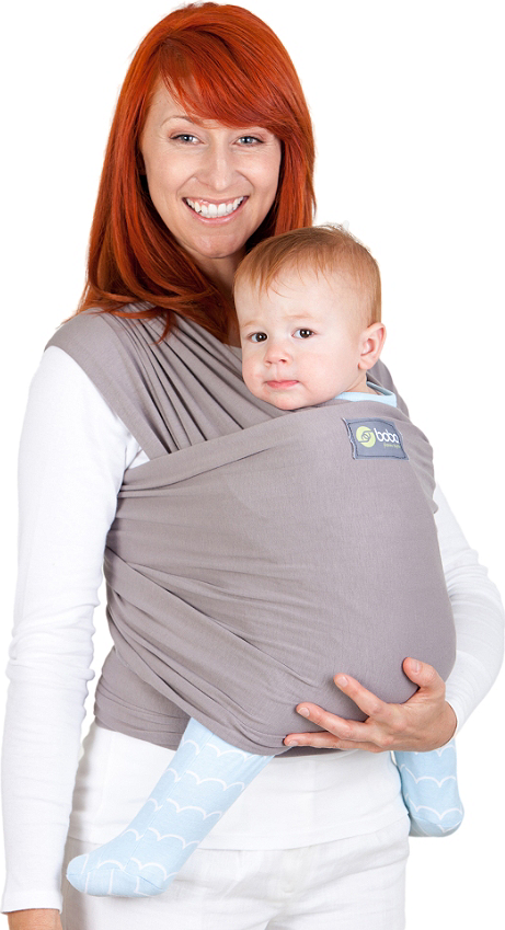 Écharpe de portage Boba Wrap Grise - Écharpe tricotée (extensible ... 27a4c0d714a