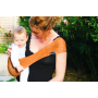 Porte-bébé sling asymétrique Suppori Orange Pressée