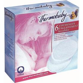 Lot de 6 coussinets d'allaitement lavables Thermobaby
