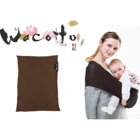 Porte-bébé tube Wacotto Chocolat
