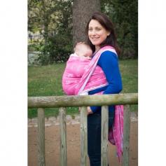 Echarpe de portage Jacquard Momes de Paris Rose de Neobulle
