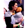 Porte-bébé sling Sukkiri Gris avec étoiles blanches