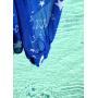 Porte-bébé sling Sukkiri Bleu avec étoiles blanches