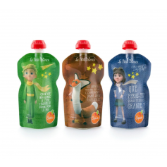 Lot de 3 gourdes Squiz Petit Prince pack Imagination