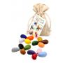 Sachet de 16 Crayon Rocks dans son sachet de transport en coton écru