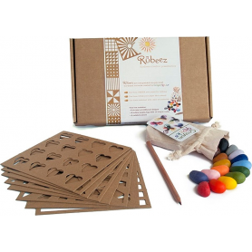 Rubeez Artbox - Pochoirs pour Crayons Rocks