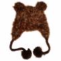Bonnet en crochet Ours Brun Huggalugs